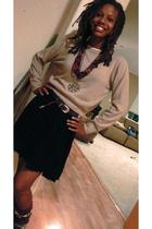 sweater - belt - shoes