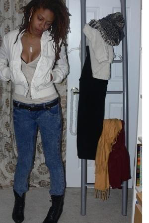 Bebe jacket - Target shirt - belt -  jeans - shoes