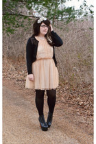 black the gap cardigan - peach pins and needles dress