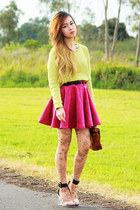 Jeffrey Campbell heels - MinkPink sweater - Tattoo Tights tights