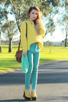 Yesstyle jeans - Yesstyle sweater - Jeffrey Campbell wedges