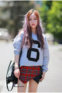 Tartan-plaid-missguided-shorts-sheinside-top