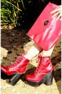 Red-tardy-platform-jeffrey-campbell-boots-romwe-shorts