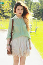 Aquamarine-romwe-blouse-brown-vintage-bag-off-white-romwe-skirt