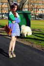 Eggshell-python-jeffrey-campbell-boots-teal-polka-dots-dress-tawny-bag-tur