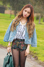 Dark-gray-floral-i-like-wolves-shorts-white-jeffrey-campbell-shoes