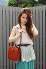 Salmon-shoes-brick-red-louis-vuitton-bag-dark-gray-chanel-earrings-turquoi