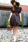 Purple-alex-alex-shoes-nude-bardot-hat-red-louis-vuitton-bag-dark-brown-