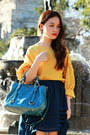 Turquoise-blue-miu-miu-bag-ysl-ring-ss11-chanel-earrings-tawny-topshop-hee