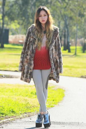 fur Sportsgirl coat - glitter boots Wildpair boots