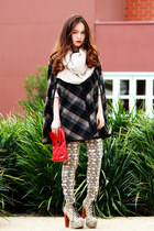 red bag - eggshell lita Jeffrey Campbell boots - Monki pants
