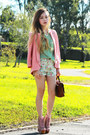 Peach-forcast-blazer-cream-fascue-shorts