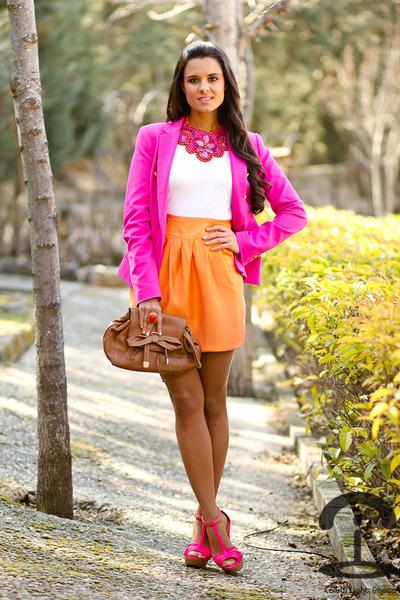 Crmenes de la Moda SHOP necklace - Zara blazer - See by Chloe bag - Zara sandals