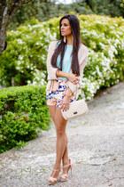 Zara shorts - Mango bag - Zara sandals