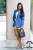 BLANCO blazer - loewe bag - Sfera shorts - Forever 21 top