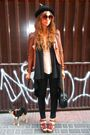 Brown-vintage-jacket-black-hm-vest-beige-zara-top-black-hm-jeans-brown-z