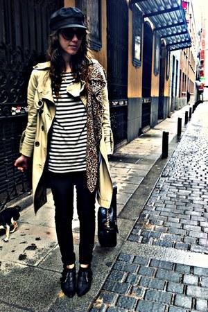 black hazel boots - camel vintage coat - black hm jeans - black vintage from mis