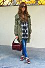 Green-zara-coat-brown-hm-shirt-blue-zara-jeans-brown-zara-shoes-brown-vi