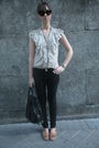 Beige-hm-shirt-black-hm-jeans-brown-zara-shoes-accessories-black-vintage