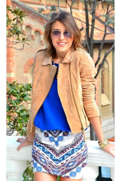 Bershka skirt - Bershka jacket - Zara shirt