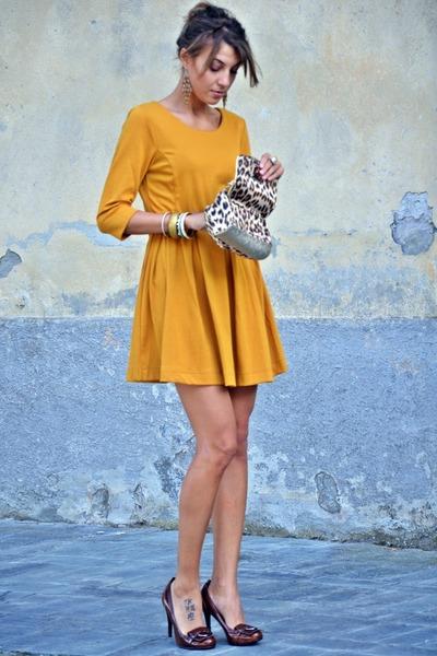 Motivi shoes - H&M dress - Guess bag