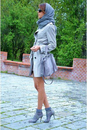 cinti sandals - H&M dress - subdued scarf - Zara socks - Zara cardigan