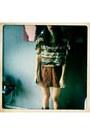 Black-cowboy-boots-boots-cream-blouse-burnt-orange-pull-bear-skirt