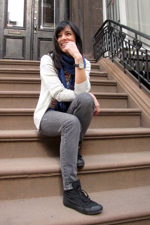 silver Delias jeans - blue Gap scarf - black Converse shoes - silver Ralph Laure