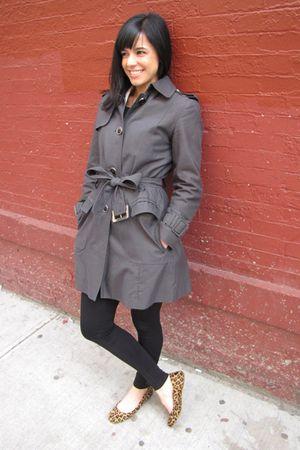 black accessories - gray banana republic jacket - brown calvin klein shoes - whi