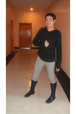 calvin klein shirt - FNH pants - Prada boots