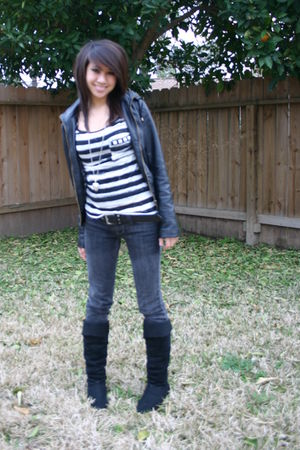 black Forever21 jacket - black Forever21 top - silver Forever21 accessories - bl