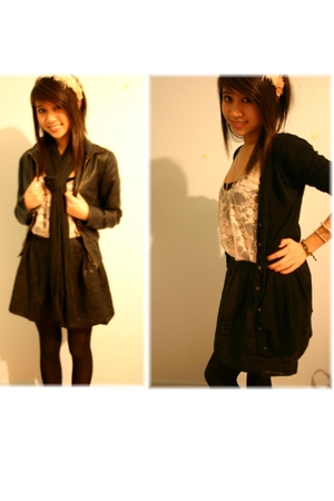 pink Forever21 accessories - black Old Navy cardigan - pink Forever21 top - blac
