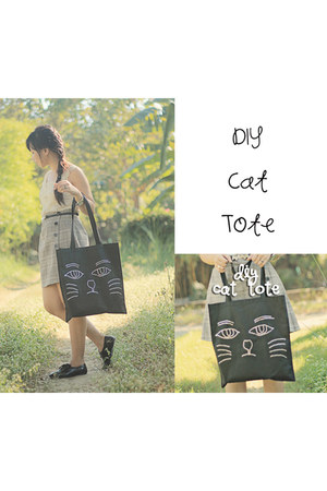 DIy Cat Tote bag