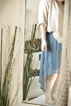 sweater H&M sweater - high low skirt Target skirt
