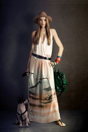 beige Snob dress - beige beige Hatbarren hat - dark green Marc O Polo bag - dark