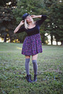 Make-me-chic-boots-forever-21-dress-urban-outfitters-hat-rue-21-jacket