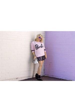 barbie Forever 21 sweater - holographic Aldo bag - PacSun sunglasses