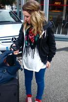 Converse shoes - Zara tights - American Apparel sweater - Zara shirt - Forever21