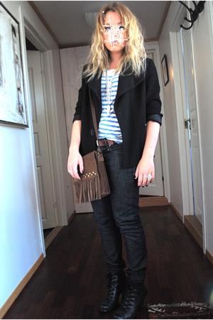 Claire blazer - GT sweater - GT purse - Din Sko shoes - vintage belt