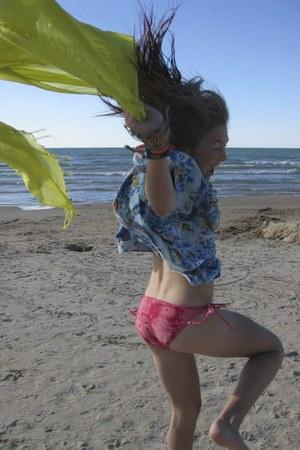 Tommy Hilfiger shirt - Ardene scarf - Aeropostale swimwear