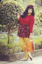 crimson Aliexpress sweater - carrot orange OASAP bag