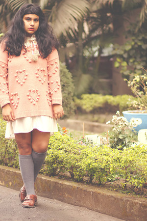 coral Simply Be sweater - ivory asoscom dress