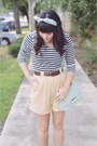 Forever-21-purse-thrifted-vintage-shorts-striped-top-h-m-top