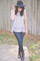 top Chicwish blouse - GoJane jeans - handbag francescas purse
