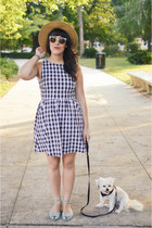 hat Forever 21 hat - gingham dress Ruche dress