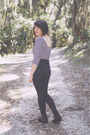 Black-booties-aldo-boots-gojane-jeans-striped-shirt-h-m-shirt