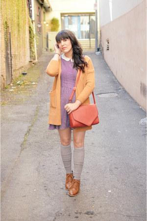 Forever 21 boots - Forever 21 dress - red satchel Forever 21 bag
