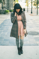 coat H&M coat - pink dress Forever 21 dress