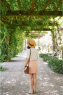 Floppy-hat-forever-21-hat-brown-satchel-h-m-purse-forever-21-skirt