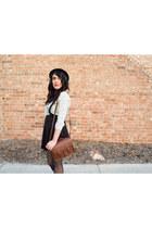 Forever 21 skirt - black hat cotton on hat - polka dot shirt Forever 21 shirt